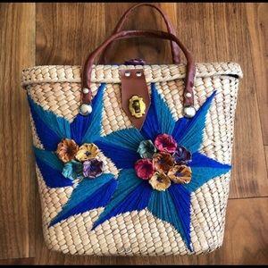 60's Vintage strap flap handbag